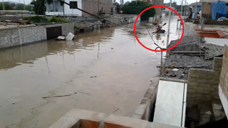 Huarmey clama ayuda: primer piso de viviendas inundados tras desborde de río