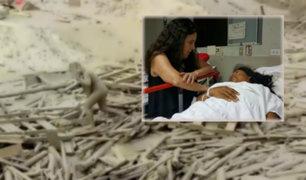 Hospital María Auxiliadora: mujer que sobrevivió a huaico se recupera