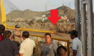 Se cayó puente Talavera en San Juan de Lurigancho tras crecida de río