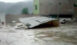 Poblado Trapiche a punto de desaparecer por desborde de río Chillón