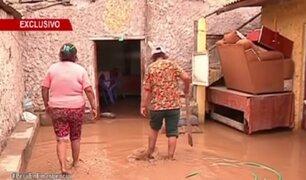 Desborde de río Chillón inundó varias casas y calles en Comas