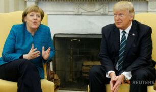 Donald Trump rechazó dar la mano a Angela Merkel y desata polémica internacional [VIDEO]