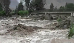 Cieneguilla: intensas lluvias incrementan caudal del río Lurín