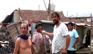 Carapongo: vecinos claman ayuda tras desborde de río Rímac
