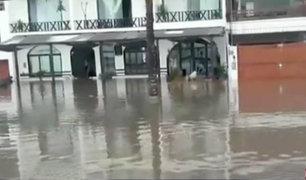 Huanchaco: balneario inundado tras desborde de quebrada León Dormido