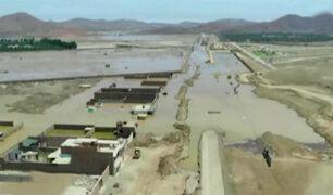 Imágenes aéreas muestran daños causados por huaicos en el sur de Lima