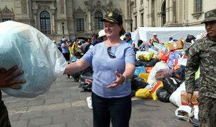 Palacio de Gobierno abre sus puertas para recibir donaciones en favor de damnificados