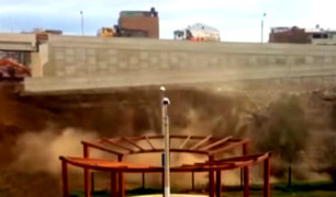 Vecinos preocupados por derrumbes en bypass de puente Dueñas