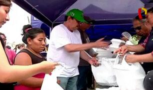 Huachipa: universitarios distribuyeron alimentos para damnificados