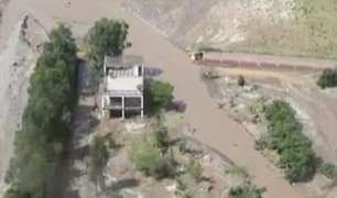 Lurín: sobrevuelo muestra devastación por inundaciones