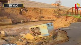 Río Rímac: eventual desborde amenaza con seguir afectando sector aledaño a puente Dueñas