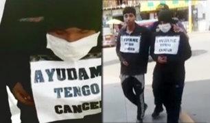 Puente Piedra: estafaban a peatones fingiendo tener cáncer