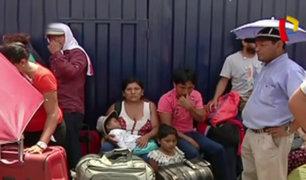 Callao: cientos aún no consiguen un cupo para viajar en vuelos de apoyo