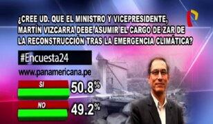 Encuesta 24: 50.8% cree que ministro Martín Vizcarra debe asumir el cargo de 'zar de la reconstrucción'