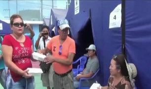 'Melcochita' entrega ayuda a damnificados por huaicos en Cañete