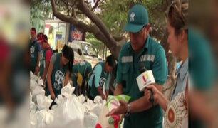 """""""Juntos por el Perú"""": se realizó importante entrega de ayuda en Ñaña"""