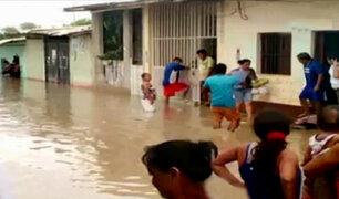 Tambogrande bajo el agua por el desborde del río Piura