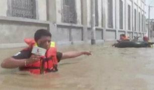 Piura: desborde del río inundó centros comerciales y viviendas