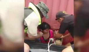 Piura: militares colombianos ayudan en el rescate de personas en Catacaos