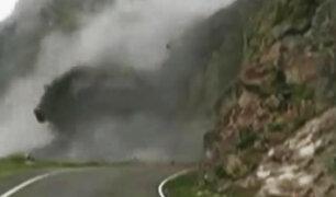 Huancavelica: derrumbe bloquea carretera Castrovirreyna – Pisco