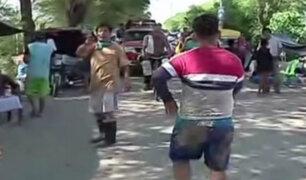 Piura: vecinos de Catacaos optan por resguardarse en carretera