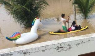 Rescate en Piura: ¿Quién es el joven del unicornio?