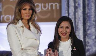 """Melania Trump entregó Premio """"Mujeres Coraje"""" a Arlette Contreras"""