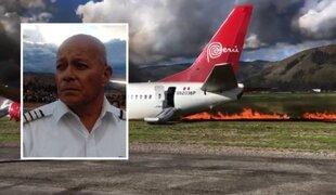 Habla el piloto del avión que se incendió en aeropuerto de Jauja