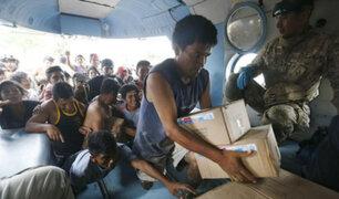 Piura: damnificados arriesgan sus vidas para conseguir ayuda