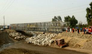 Ministro de Transportes inspeccionó instalación de puente Bailey en Chosica