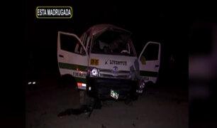 Ventanilla: volcadura de combi deja un menor muerto y al menos siete heridos