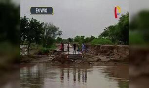 Piura: centros poblados aislados tras desborde de río