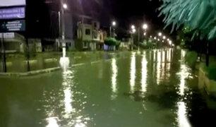 Tumbes: calles quedaron anegadas tras intensas lluvias