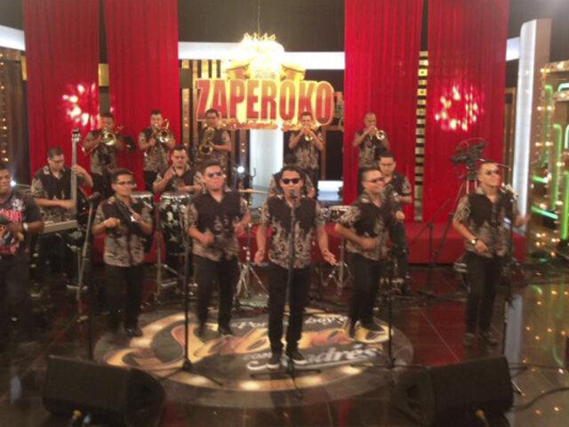 Zaperoko animó con su sabrosa música en Porque Hoy es Sábado con Andrés
