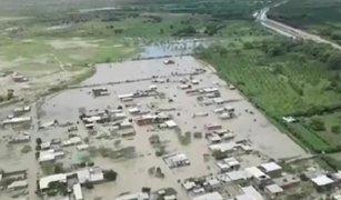 Inundación total en Piura: carreteras y cultivos han desaparecido