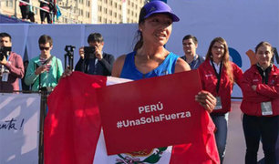 Inés Melchor ganó Maratón 42k de Santiago de Chile