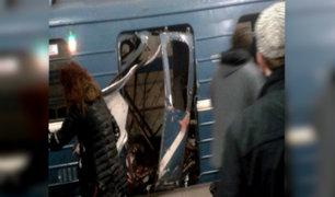 Rusia: explosiones en metro de San Petersburgo dejan al menos 10 muertos