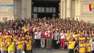 Palacio de Gobierno: primera dama cerró campaña por damnificados