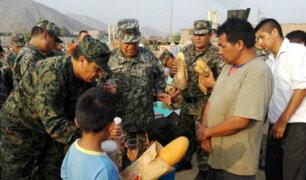 Ejército lleva ayuda y alegría a familias de Carapongo