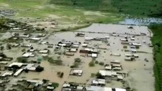 Así quedó poblado de Narihualá tras desborde de río Piura
