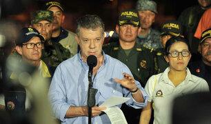 Colombia: presidente Juan Manuel Santos llegó a zona afectada por avalancha