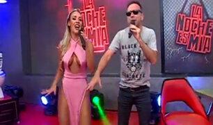 """Dorita Orbegoso alborota el set de """"La Noche Es Mía"""""""