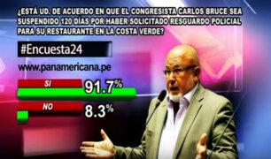 Encuesta 24: 91.7% a favor de la suspensión a Carlos Bruce