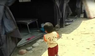 Carapongo: niños presentan diversas afecciones a la piel tras huaico