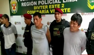 PNP captura a tres delincuentes que robaron camioneta en Ate