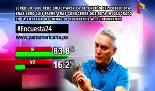 Encuesta 24: 83.8% a favor de detención de Luis Favre por recibir sobornos para Félix Moreno