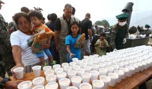 Cajamarquilla: Ejército realiza acción cívica en favor de niños damnificados