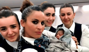 Bebé nace en pleno vuelo a 12 mil metros de altura