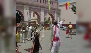 Semana Santa: 'Cristo Cholo' escenifica Domingo de Ramos