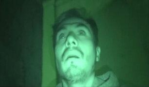 Richi Boy venció sus miedos y pasó la noche en un cementerio